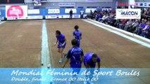 Finale France contre Italie, Mondial Féminin de Sport Boules, Mâcon 2014