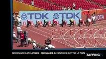 Mondiaux d'athlétisme: Disqualifié après un faux-départ, un athlète refuse de quitter la piste