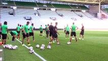Avant ASSE-Milsami, l'entraînement des Verts dans le Chaudron