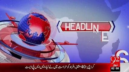 Headlines - 02:00 AM - 27-08-15 - 92 News HD