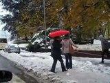 Bolzano Bozen la grande nevicata neve del dicembre 2008 piazza Vittoria