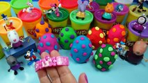 Play doh Cute BAGS Minnie mouse Peppa pig Kinder Mickey mouse surprise eggs Frozen DOC Mcstuffins