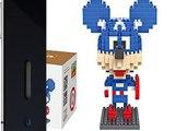 Details LOZ Diamond Blocks Nanoblock Mickey Mouse Featuring Captain America Ed Top