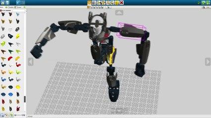 Gry Dla Dzieci Jak Ułożyć Robota Bionicle W Lego Digital Designer - GRAJ Z NAMI