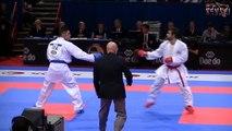 Aghayev vs Busà - Final male kumite -75 kg - 21st WKF World Karate Championships Paris Bercy 2012