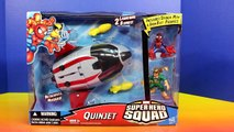 Marvel Super Hero Squad Quinjet With Spider-man Iron Fist Wolverine Electro Doctor Doom