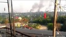 UKRAINE TODAY NEWS WAR CRISIS 08 2014 Column military equipment Kiev Donetsk, Lugansk, ATO