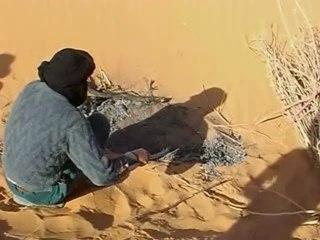 cuisson du pain dans le désert