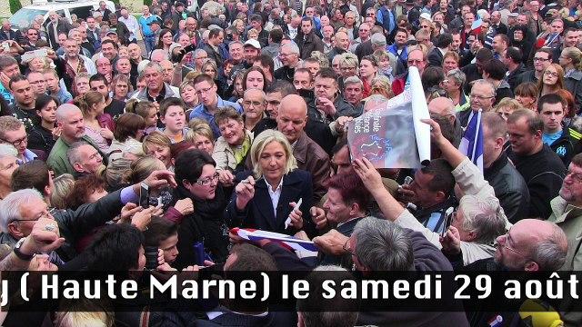Discours de Marine Le Pen en direct de Brachey
