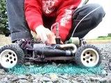 démarrage d'une voiture thermique technique rapide (modélisme auto)