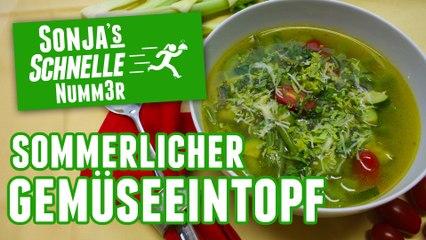 Sommerlicher Gemüseeintopf - Rezept (Sonja's Schnelle Nummer #77)