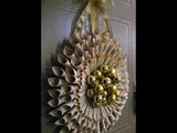 Christmas Decorations Christmas Wreath Old Book Pages