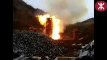 La destruction de 2000 balles d'armes à feu sur une zone militaire russe.