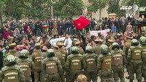 Mapuches e caminhoneiros em protesto no Chile