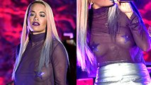 Rita Ora Goes Braless, Flaunts Hot Body