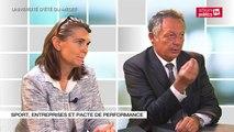 """Thierry BRAILLARD participe au débat"""" Sport, Entreprises et pacte de performance"""""""