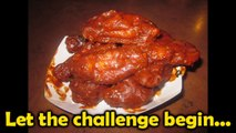 Spicy Blazin' Wing Challenge at Buffalo Wild Wings - Food Challenge