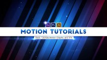 After Effects Tutorial - How to use trapcode 3d stroke in After effects