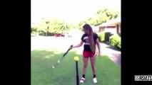 Compilation des plus Incroyables Jongles avec une Batte de Baseball
