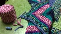 Tutorial: Como hacer alfombra de trapilho a ganchillo
