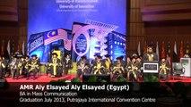 Amr Aly Elsayed Aly Elsayed (Egypt) Graduation Speech July 2013