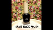 Matte Black Nails w/ Glossy Polka Dots | NAIL TUTORIAL