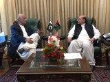 CM Sindh Syed Qaim Ali Shah meets to NA Opposition Leader Khursheed Shah