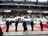Finale championnat de France Karaté avec Chantal Jouanno