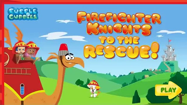 Bubble Guppies Fire Fighter Knights Fire Rescue Dragon Game! Video Game Episode