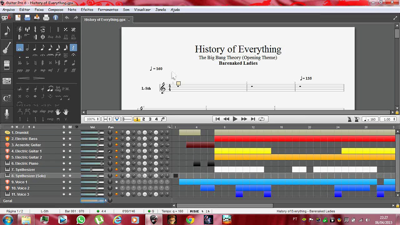 The Big Bang Theory – Opening: History of Everything (Guitar Pro 6)