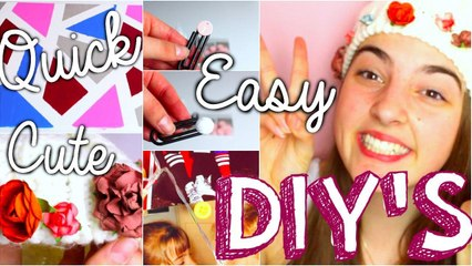 EASY, CUTE, QUICK DIY'S!!! UNDER 5 MINS