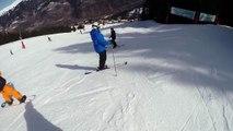 60mph skiing crash into fence (3 valleys) filmed on GoPro helmet cam