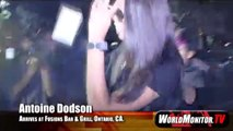 Antoine Dodson and his sister 'Kelly Dodson' at Fusions Bar & Grill in Ontario,California