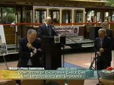 Mayor Lee Cuts Ribbon on Completion of the California Cable Car Line improvements