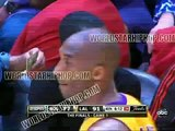So Focused Kobe Bryant Ignores Chris Rock Phil Jackson Confronts Chris! (Your Interrupting The Game)