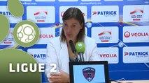 Conférence de presse Clermont Foot - AS Nancy Lorraine (1-2) : Corinne DIACRE (CF63) - Pablo  CORREA (ASNL) - 2015/2016