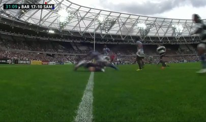 How rugby is supposed to be played. Fantastic teamwork and speed from Ben Tapuai vs. Samoa.