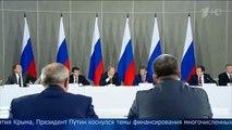"""Vladimir Poutine en Crimée : """"Il est où l'argent ?"""""""