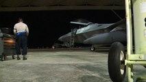 F-22 Raptor Stealth Tyndall AFB Night Takeoff Deploy To Europe HD