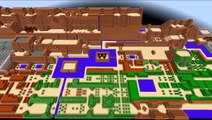 Zelda Minecraft: Legend of Minecraft = The Legend of Zelda (NES) World Map Recreated in Minecraft!