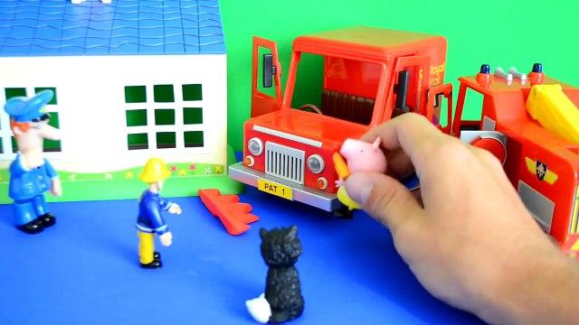 Fireman Sam Episode Peppa Pig Play-doh Postman pat Van Fire Fire Engine Full Story WOW