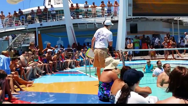 Royal Caribbean volleyball game video 1