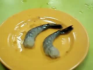 Even the dead prawns are alive!