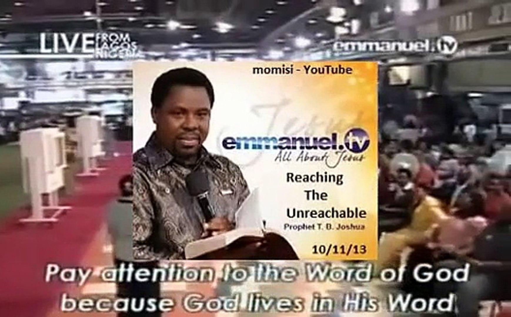 Evelyn Joshua: Reaching the Unreachable Sunday 10 Nov 13 Emmanuel TV SCOAN  Prophet TB Joshua's Wife