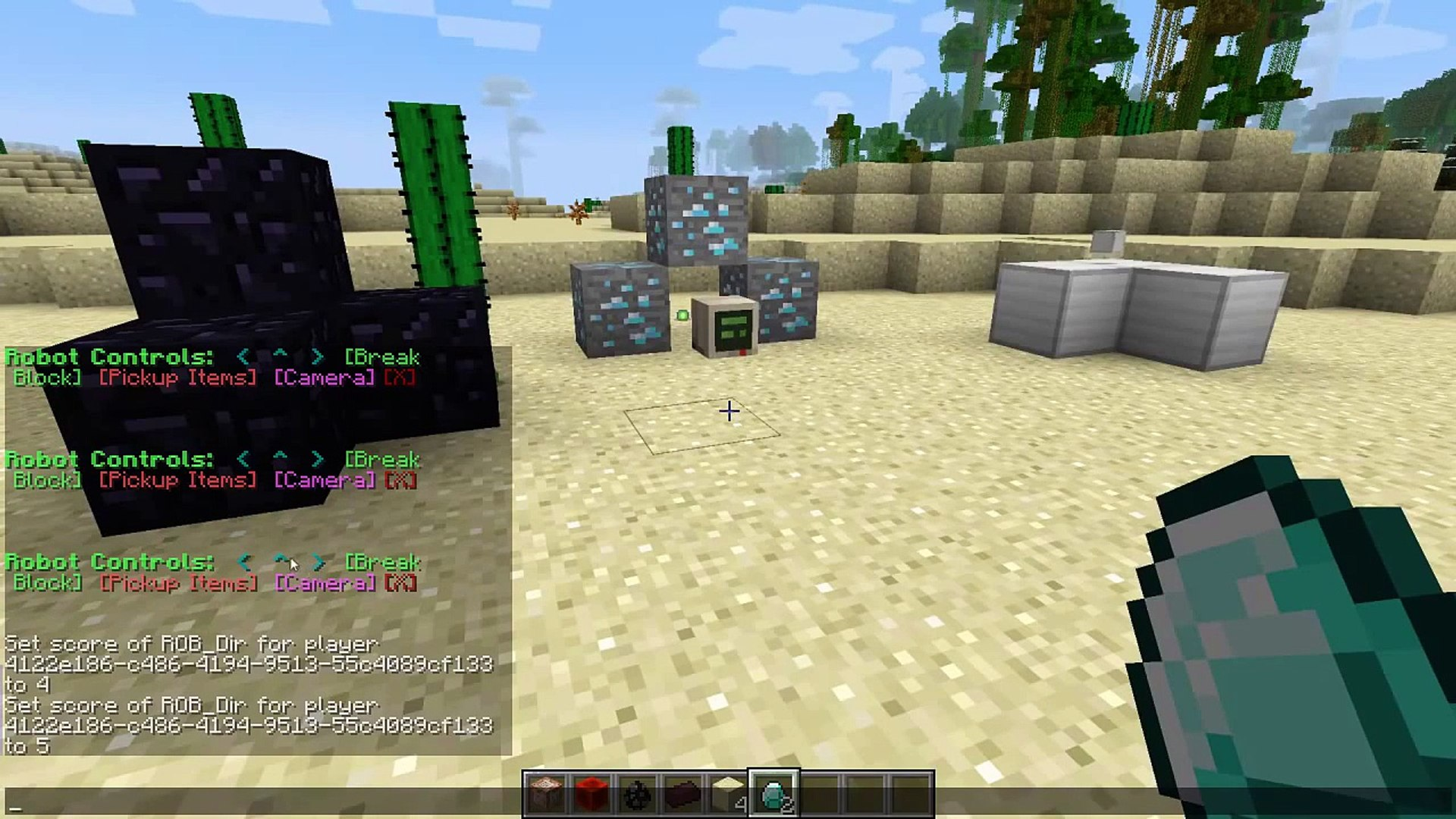 Minecraft | REMOTE CONTROL ROBOTS!! | One Command Creation  -TheDiamondMinecart // DanTDM