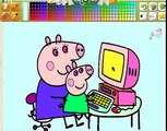 Peppa Pig En español VideoJuego Peppa La Cerdita 2014 Latinoamerica Dibujos de color De pe