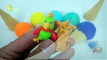 Ice Cream Play Doh Toys Peppa Pig Minions Me2 SuperWings Ice Cream Rainbow Surprise Toy