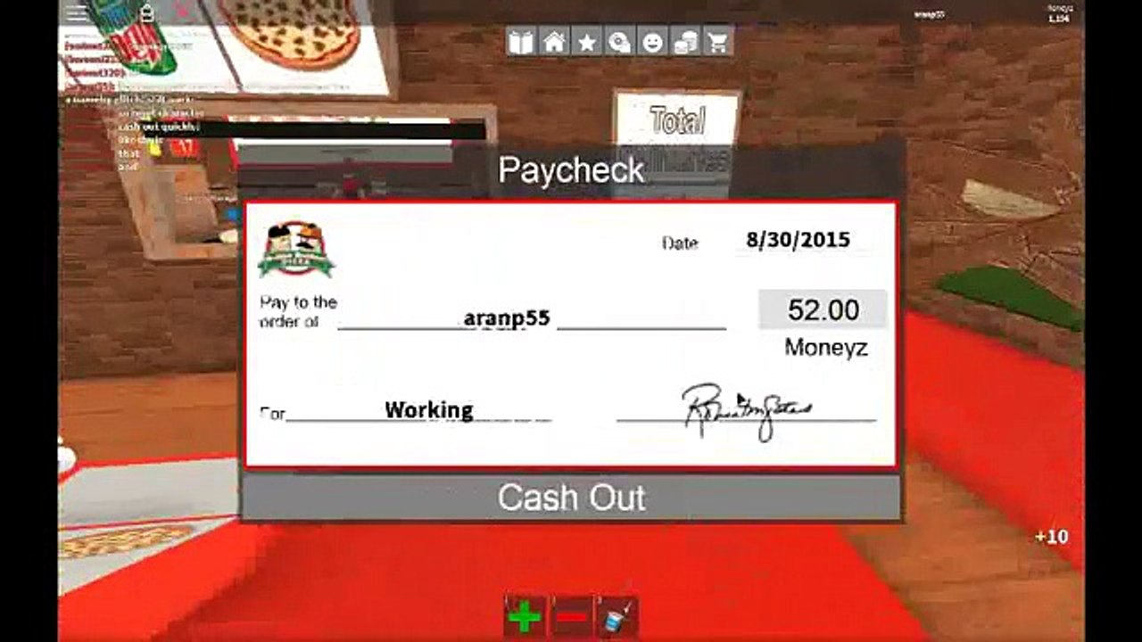 How To Do A Money Glitch Works Work At A Pizza Place Video