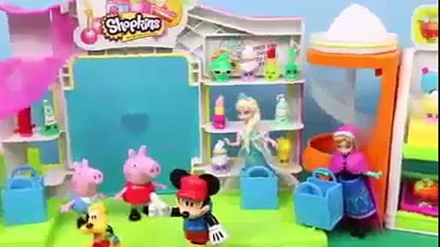Shopkins Mickey Mouse Clubhouse Peppa Pig Disney Frozen Elsa Anna Minnie Open Surprise Toy