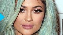 Kylie Jenner Shows Butt Cheek in Ripped Denim Shorts, Wears Blue Wig Again